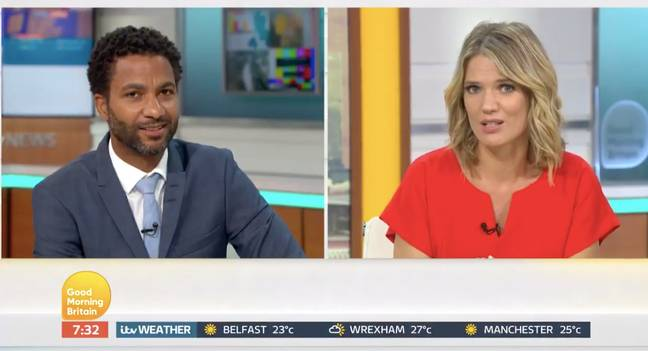 Sean joined Charlotte on today's 'GMB' (Credit: ITV)