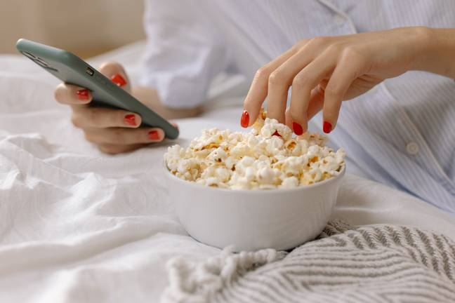 Popcorn and chocolate together? Yes please! (Credit: Pexels)
