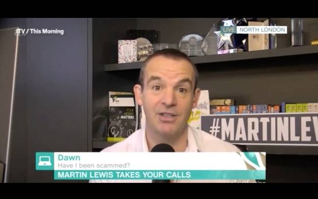 Martin Lewis accidentally swore live on This Morning (Credit: ITV)