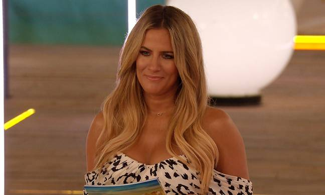 Caroline Flack confirmed she would be stepping down from 'Winter Love Island' in the wake of her arrest (Credit: ITV)
