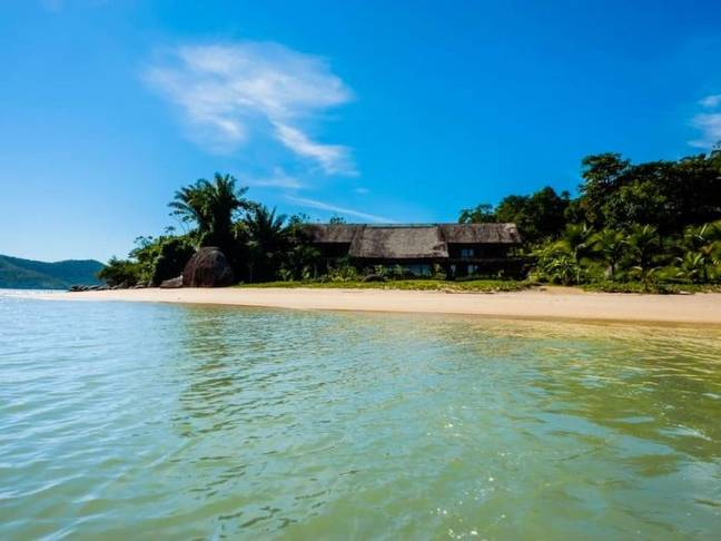 It's located in a secluded and remote area of Brazil (Credit: Vrbo)