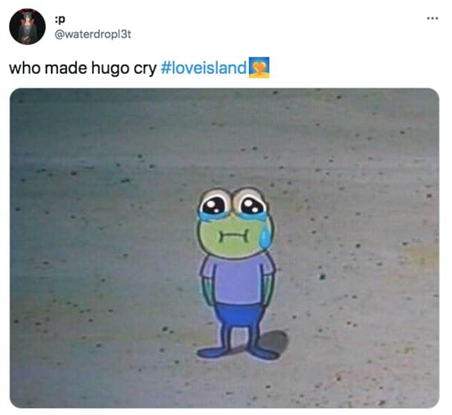 People got emotional at seeing poor Hugo in tears (Credit: Twitter)