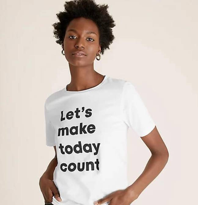 This is what the M and S t-shirt is meant to look like (Credit: Marks and Spencer)