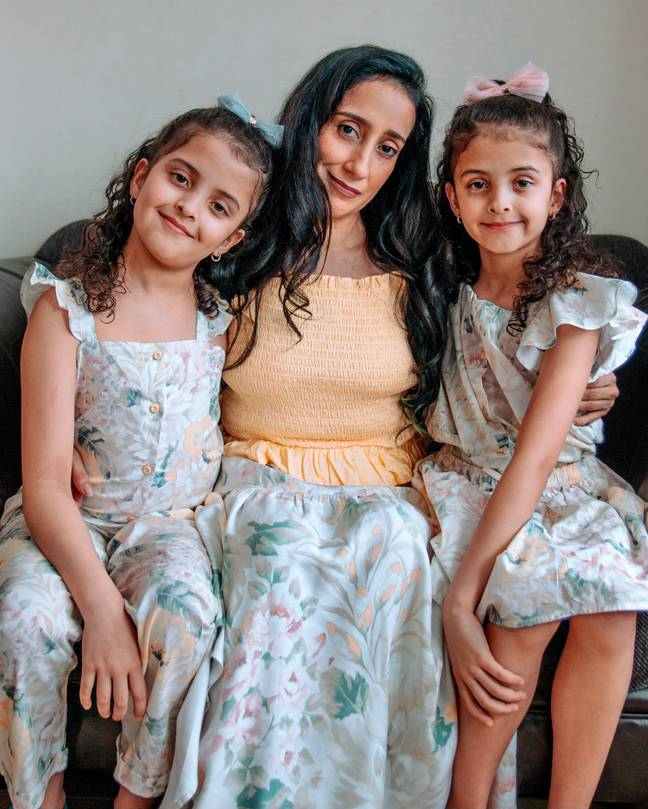 Atima was able to conceive naturally, and welcomed two twin girls, who are now aged 10 (Credit: Atima Bhatnagar)