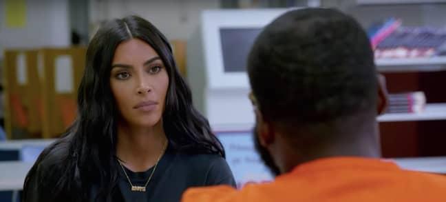 Kim Kardashian speaks to prisoners about reform (Credit: Hayu)