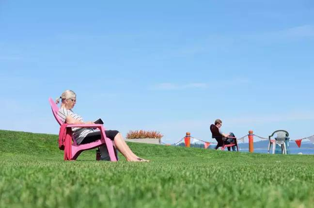 As of Wednesday, two members of different households will be able to sit two metres apart in the park (Credit: Unsplash)