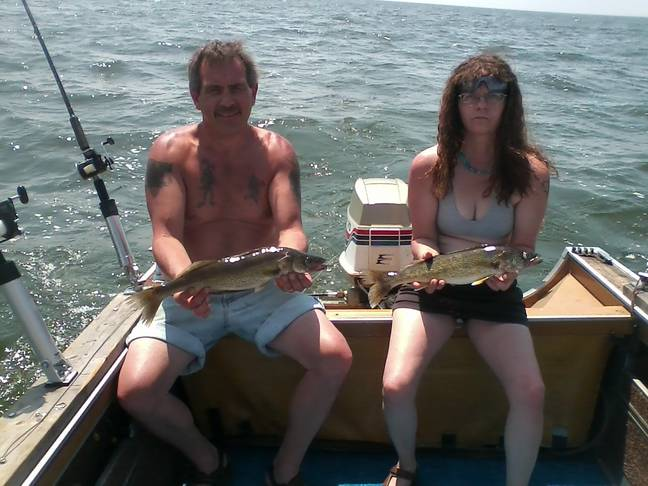 Scott Tadych and who we presume is Barb Tadych out fishing in 2015 ' Credit: Facebook/Scott Tadych