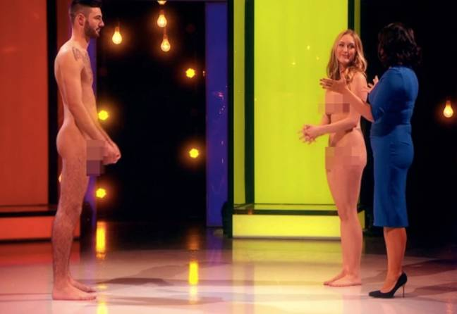 Tracy was drawn to Mark's nether-regions (Credit: Channel 4)