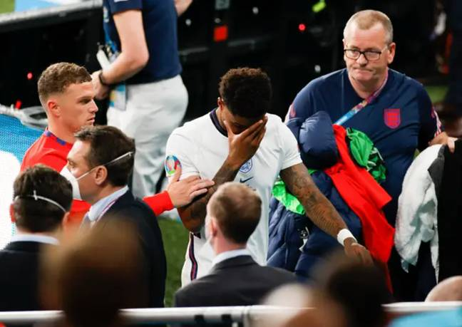 Marcus Rashford was one of the players who received racist abuse on social media after the match (Credit: PA)