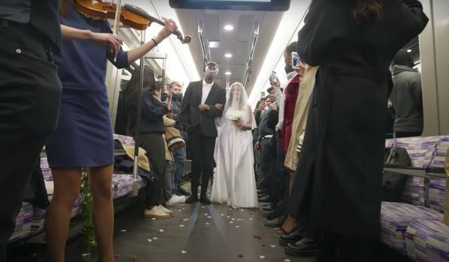 The service was a YouTube prank but had all the hallmarks of a real wedding (Credit: YouTube / Elvin Mensah)