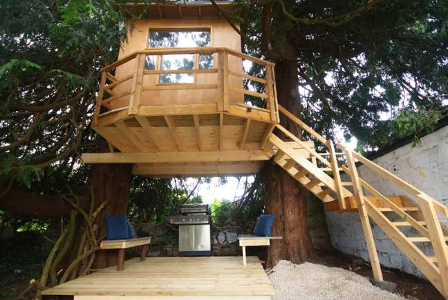 There's even a magical treehouse in the garden (Credit: Airbnb)