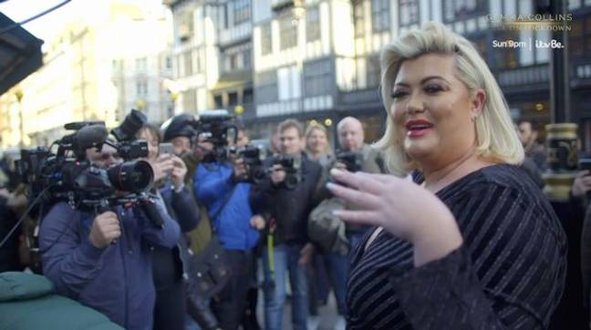 Gemma Collins lapped up the cameras despite the wardrobe malfunction (Credit: ITV)