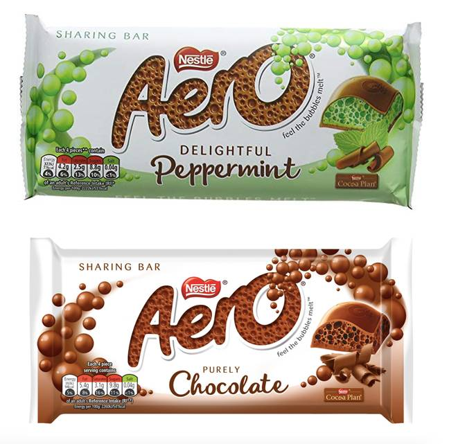 Aero currently only has two flavours - milk chocolate and peppermint (Credit: Nestle)