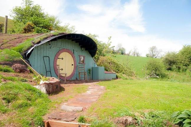 The Hobbit House is built into the side of a hill (Credit: Rightmove)
