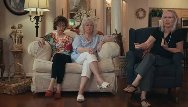 Don Lewis's ex wife Gladys Lewis Cross and daughters Donna Pettis, Lynda Sanchez and Gale Rathbone featured in the doc (Credit: Netflix)