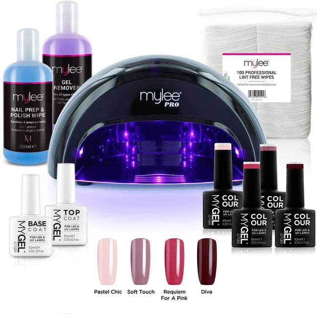 Mylee's Gel Nail Kit comes with everything you need for a salon-quality mani (Credit: Amazon)
