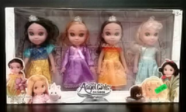The Aangel Dolls were another item posing a risk to kids (Credit: SWNS)