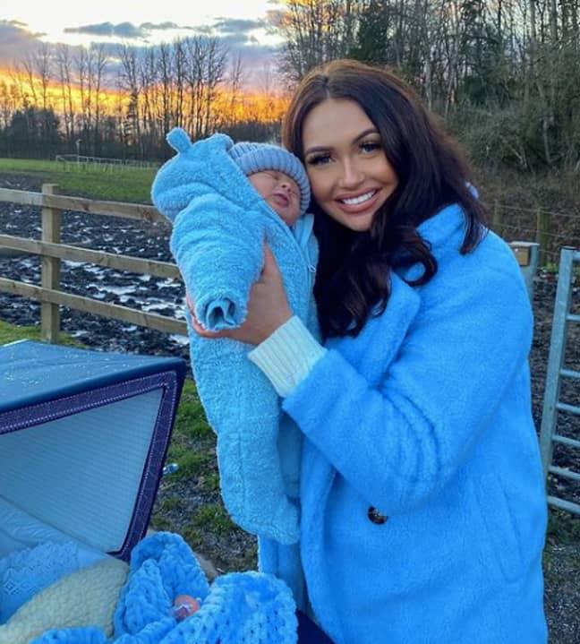 Charlotte welcomed her newborn last month (Credit: Instagram/ Charlotte Dawson)