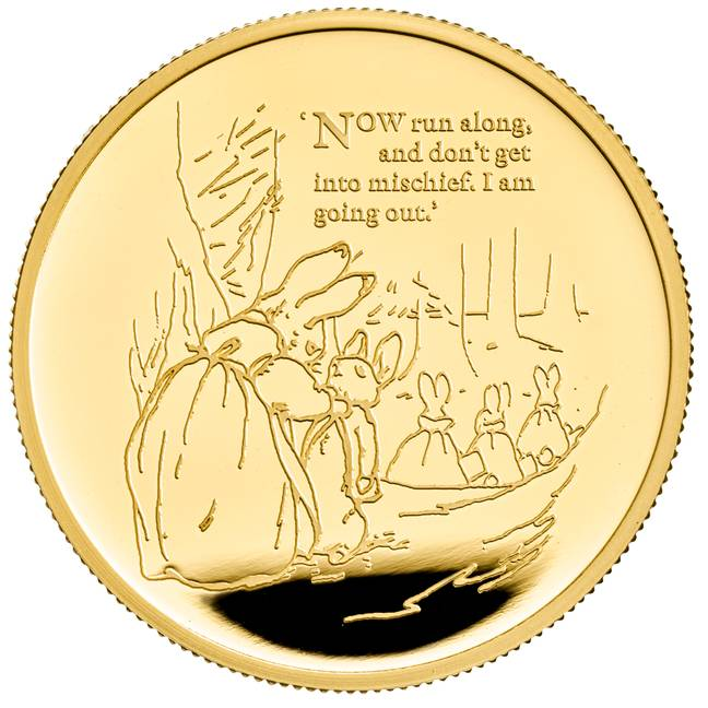 Peter Rabbit is appearing on The Royal Mint's commemorative £5 crown (Credit: The Royal Mint)