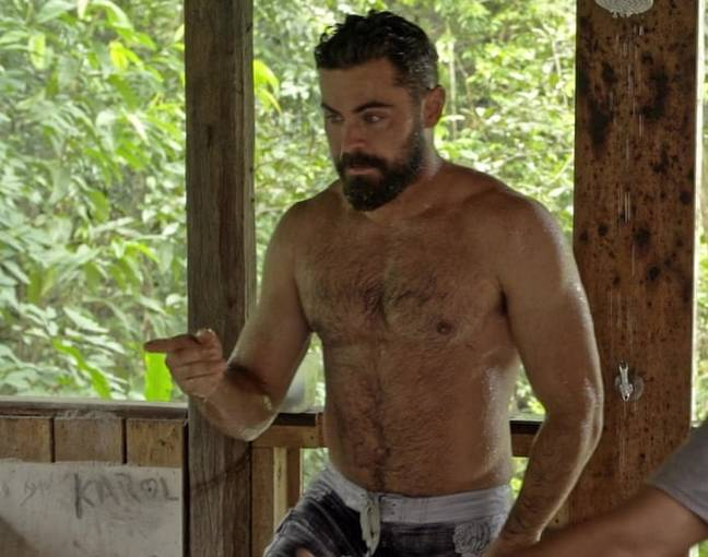 Zac Efron's beard and 'dad-bod' went viral last summer after the debut of his Netflix series Down To Earth (Credit: Netflix)