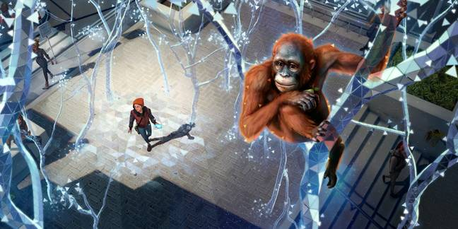 The game transforms your surroundings into a virtual jungle (Credit: Chester Zoo)