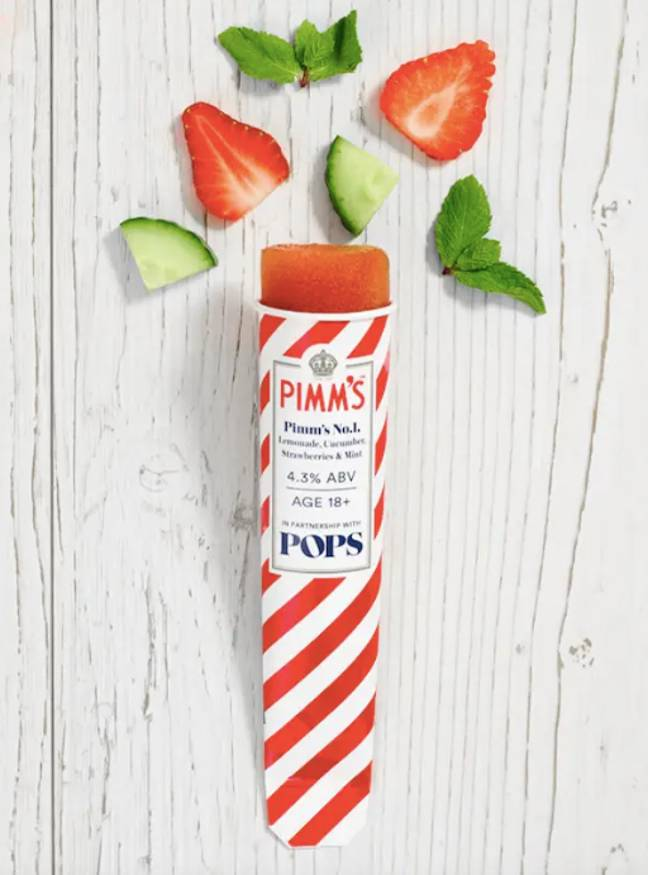 The Pimm's lolly is bound to fly off the shelves (Credit: POPS)
