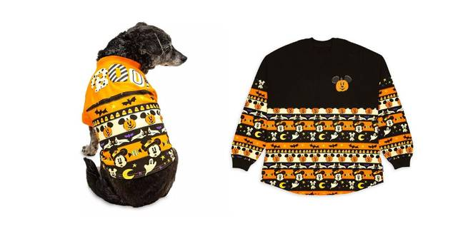 The pet-sized Halloween jumper comes with a price tag of $25 while the human equivalent is $65 (Credit: Disney)