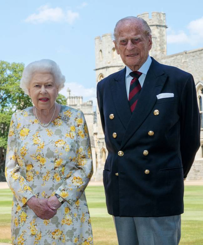 The Royal Family released a new image of the Queen and Prince Philip (Credit: PA)