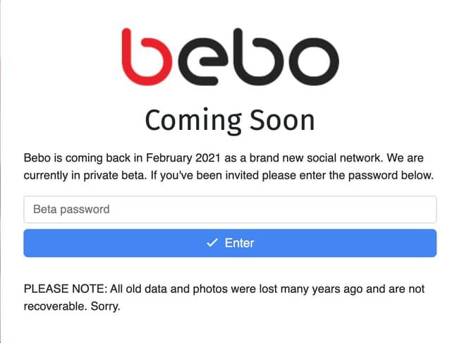 Bebo is returning next month (Credit: Bebo)