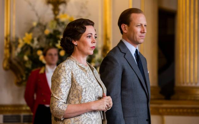 Olivia Colman and Tobias Menzies in season 3 of The Crown (Credit: Netfilx)