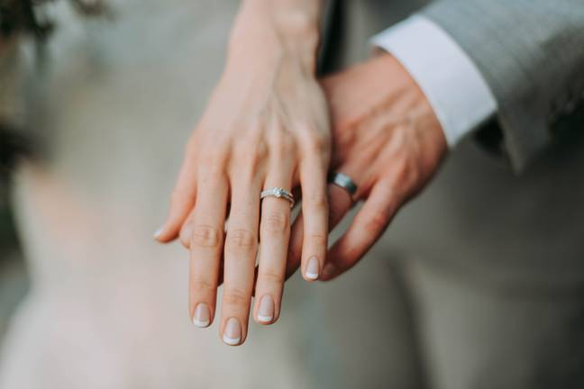 The couple must wash their hands before exchanging rings (Credit: Pexels)