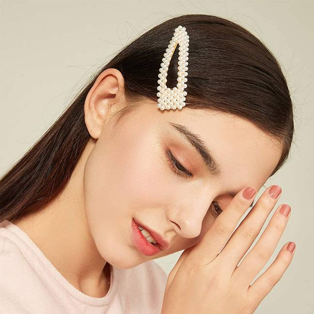 Pearly snap clips are a playful and feminine option for special occasions (Credit: Amazon)