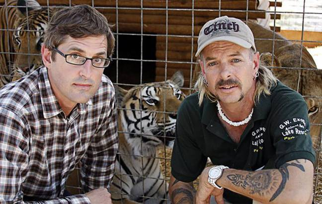 Louis met 'Tiger King' frontman Joe Exotic back in 2011 (Credit: BBC)