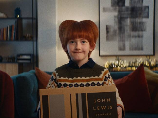 The ad is aiming to raise £4million for two charities, Home Start and Fare Share (Credit: John Lewis)