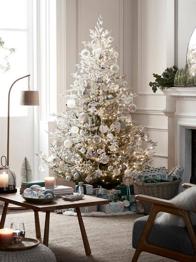 Frosted Festive Fir Unlit Christmas Tree, £79.99 (Credit: John Lewis)