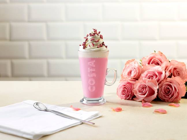 The Ruby Hot Chocolate is a pretty pink dream (Credit: Costa)