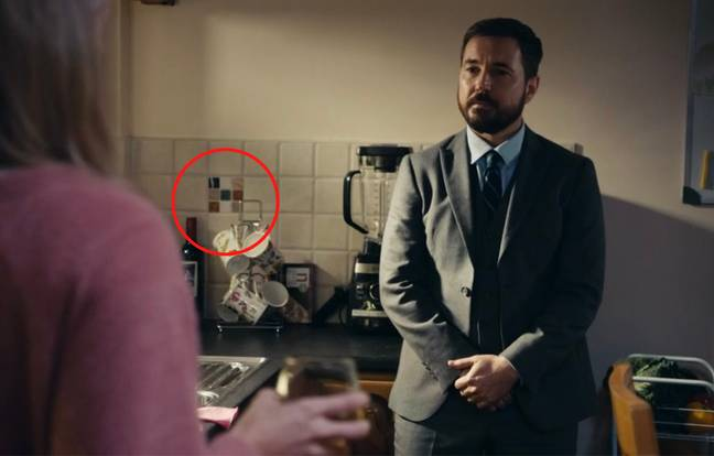 Eagle-eyed viewers have spotted 'H' in the kitchen (Credit: BBC)