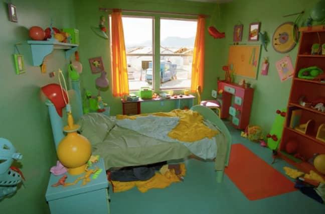 Bart's bedroom was replicated in fine detail (Credit: Fox)