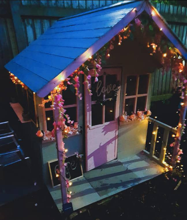 The house was draped with fairy lights (Credit: Facebook/ Becky Alice)