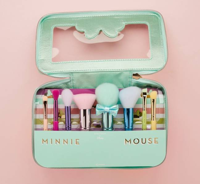 The 'Minnie Minis Set' comes packed with 8 dinky travel-sized brushes (Credit: Spectrum Collections)