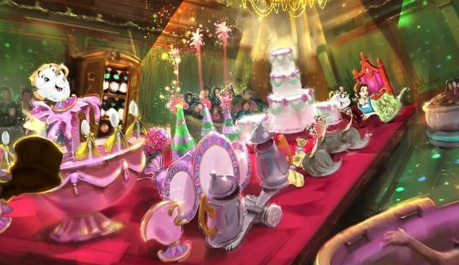 Visitors will be fully immersed in Belle's enchanted world (Credit: Disney)