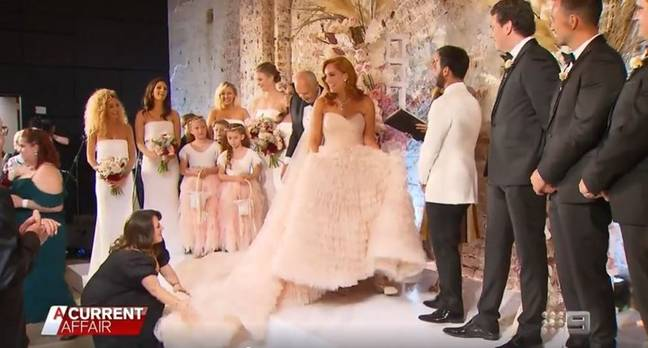 Jules and Cameron got married on Australian show 'A Current Affair' (Credit: Nine Network)