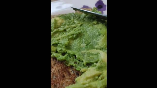 This nifty trick demonstrates how to mash an avocado without cutting it (Credit: Taste This Now/Youtube)