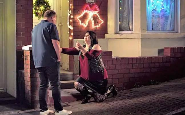 Nessa proposed to Smithy in the Christmas special (Photo credit: BBC)