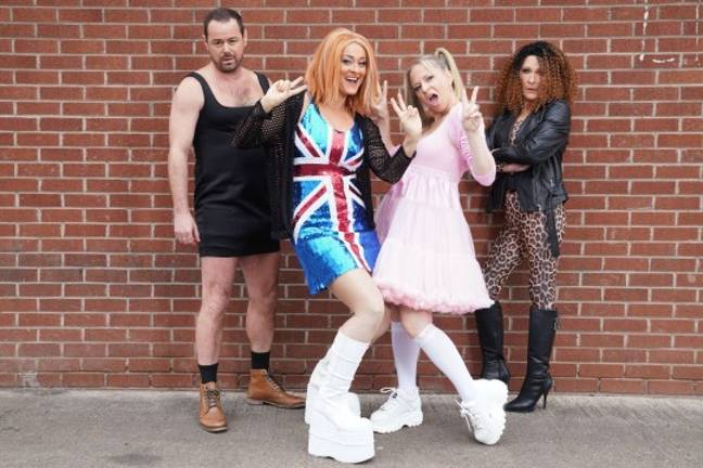 The Carters become The Spice Girls. Credit: BBC