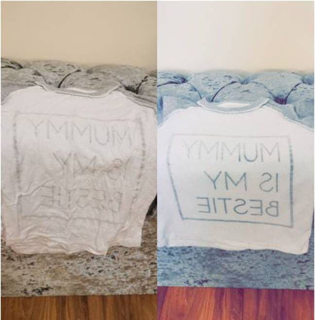Rachel Furness loved the results when she used it on her baby's clothes (Credit: Facebook/Rachel Furness)