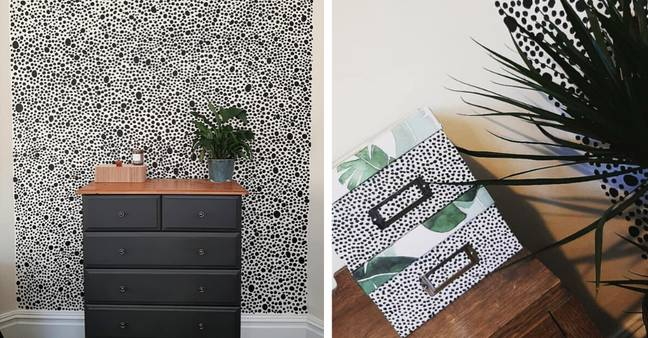 Hannah painted her Dalmatian effect straight onto the wall (Credit: Instagram / @h.m.edwards)