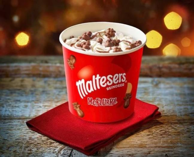 The Christmas Malteser McFlurry has been removed from the menu. (Credit: McDonald's)
