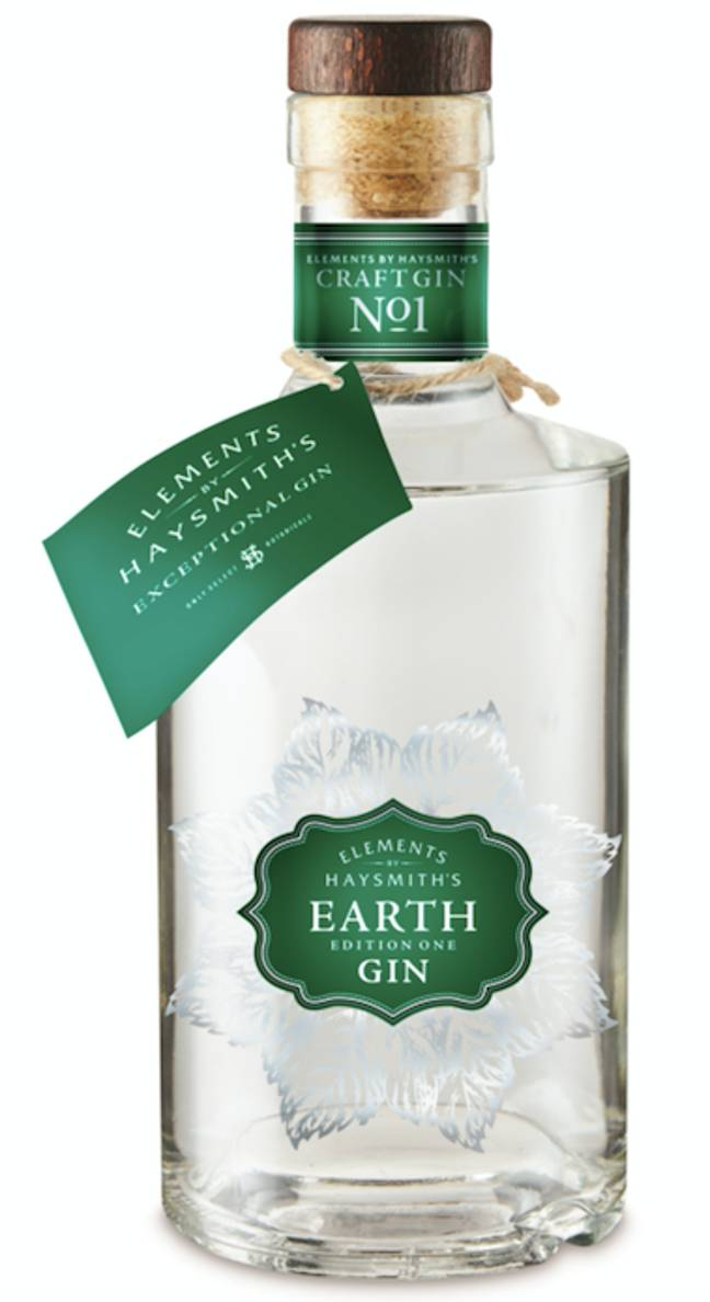 The 'Earth' gin is flavoured with citrus (Credit: Aldi)
