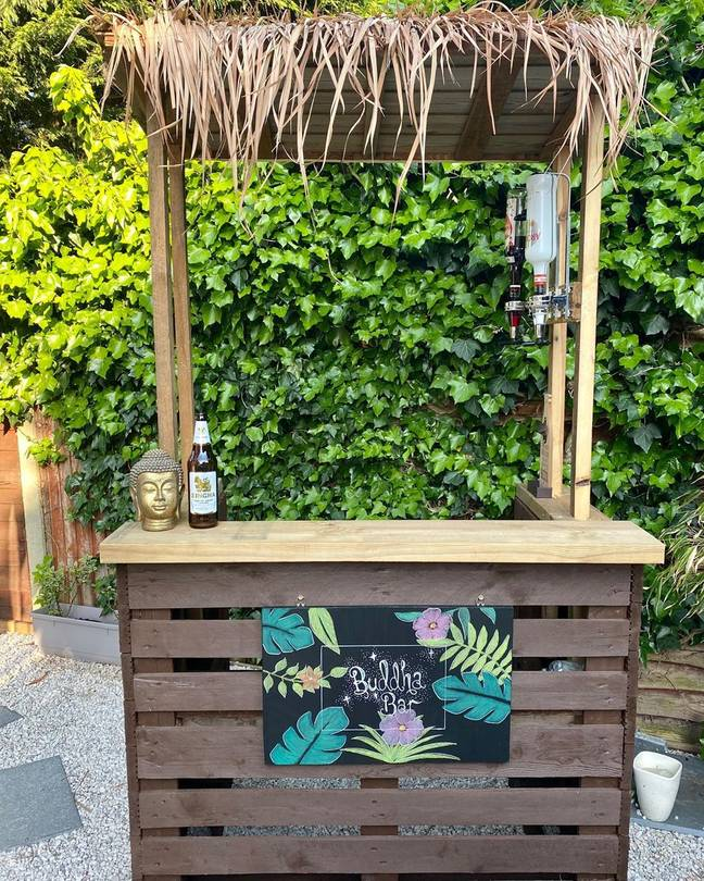 We love Instagrammer Holly Lander's Tiki hideaway complete with chalkboard sign and Buddha (Credit: Holly Lander / @holly_lander)